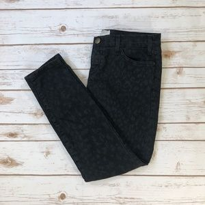 Current/Elliott Black Leopard Stiletto Jeans 29